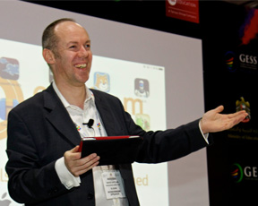 David presenting